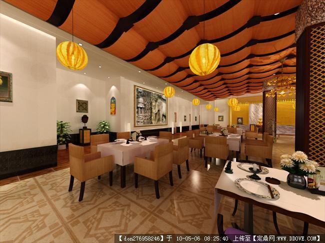 2010泰国餐厅原创【万象苑】店面效果图,厅内效果图-泰国餐厅大厅