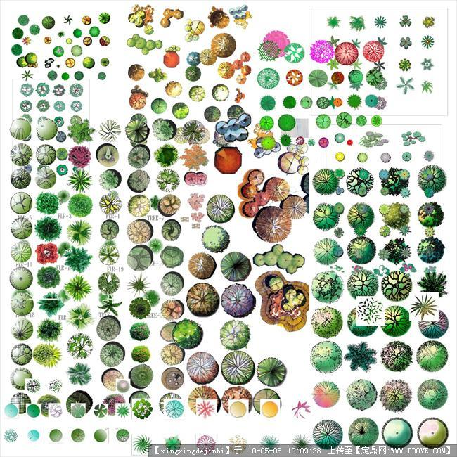 ps植物平面图例素材