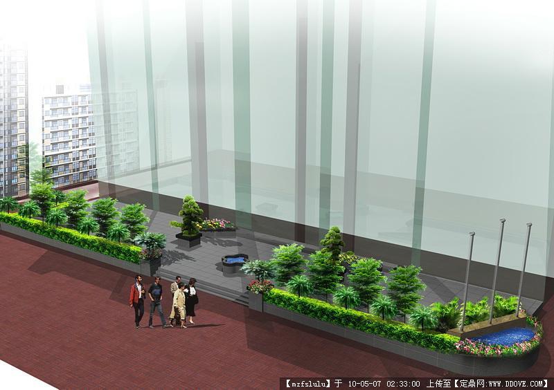 广场绿化效果图