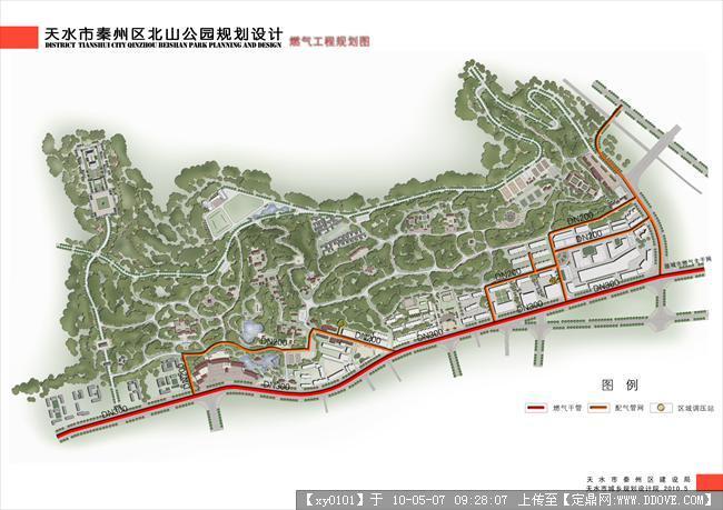 北山公园燃气规划分析图