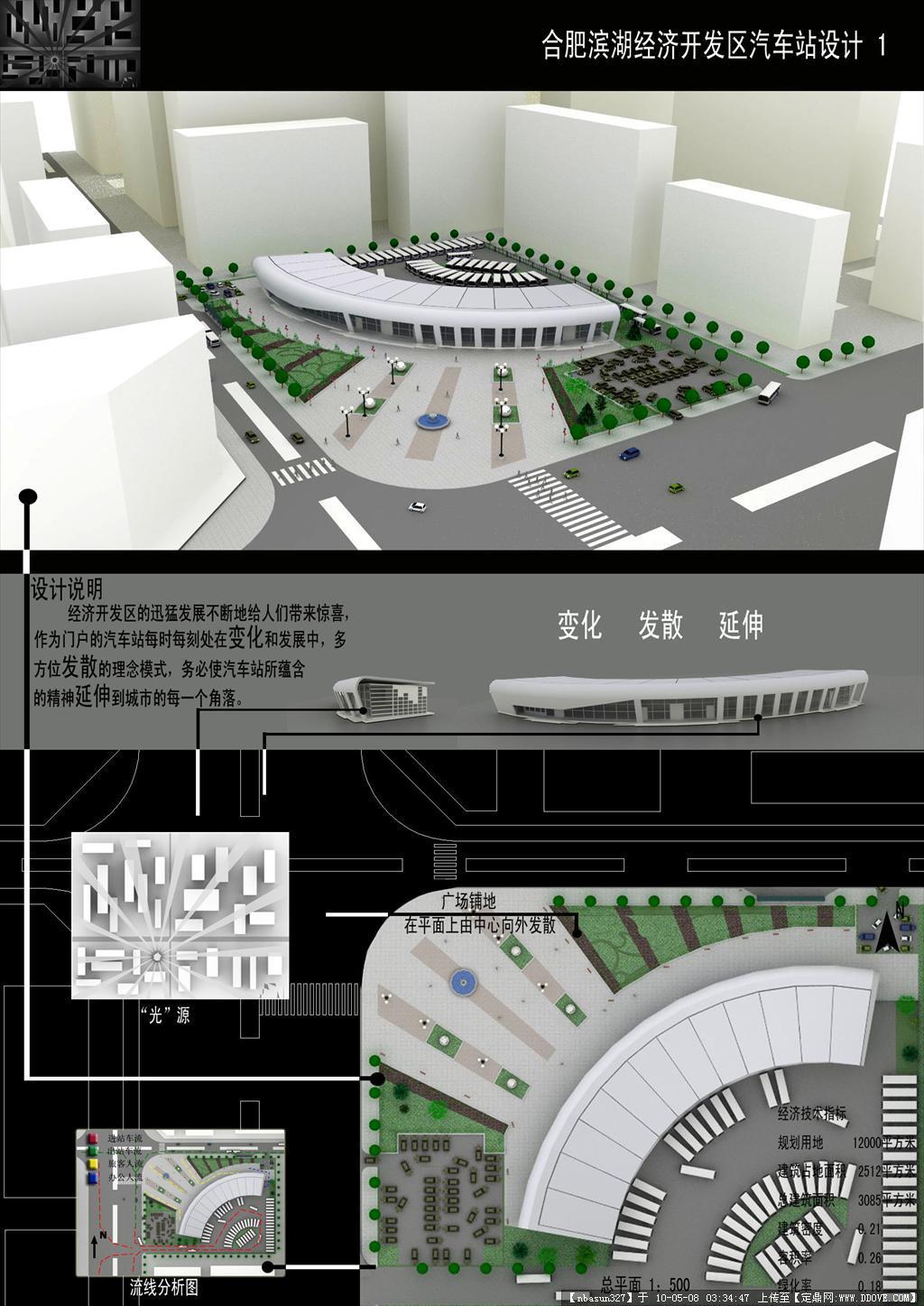 汽车站设计展板两张-大图