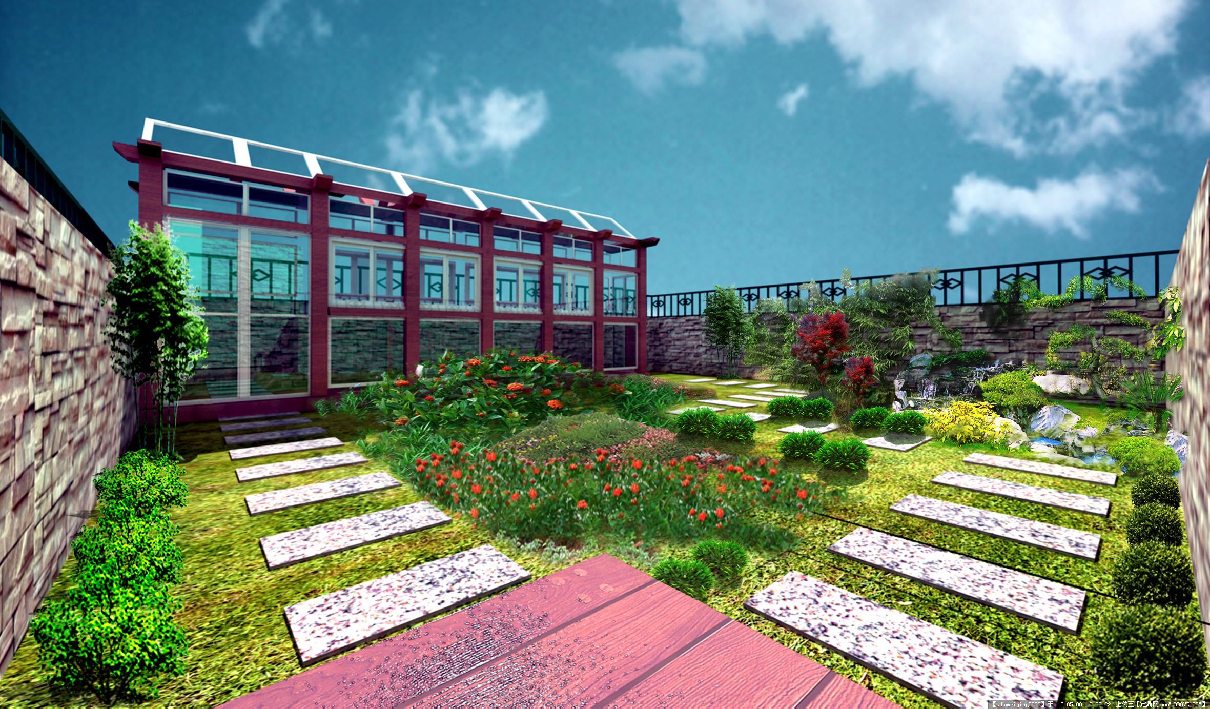屋顶花园设计-屋顶花园效果图