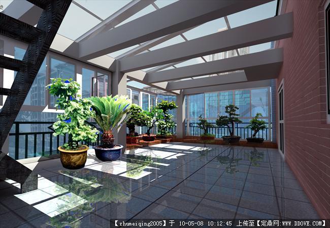 屋顶花园设计效果图集