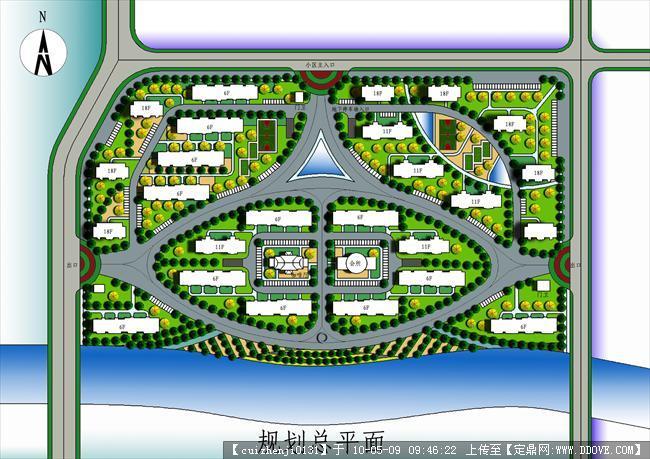 居住小区规划设计总平面的下载 高清图片