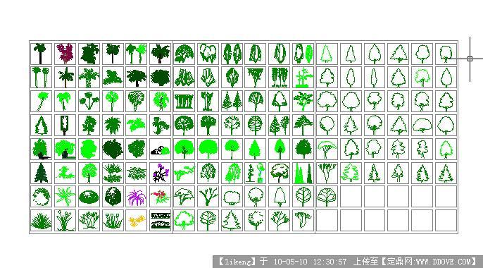 植物设计图例