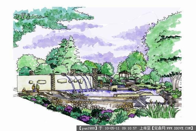 景观效果图27张-手绘集合的图片浏览,园林效 果图,,.