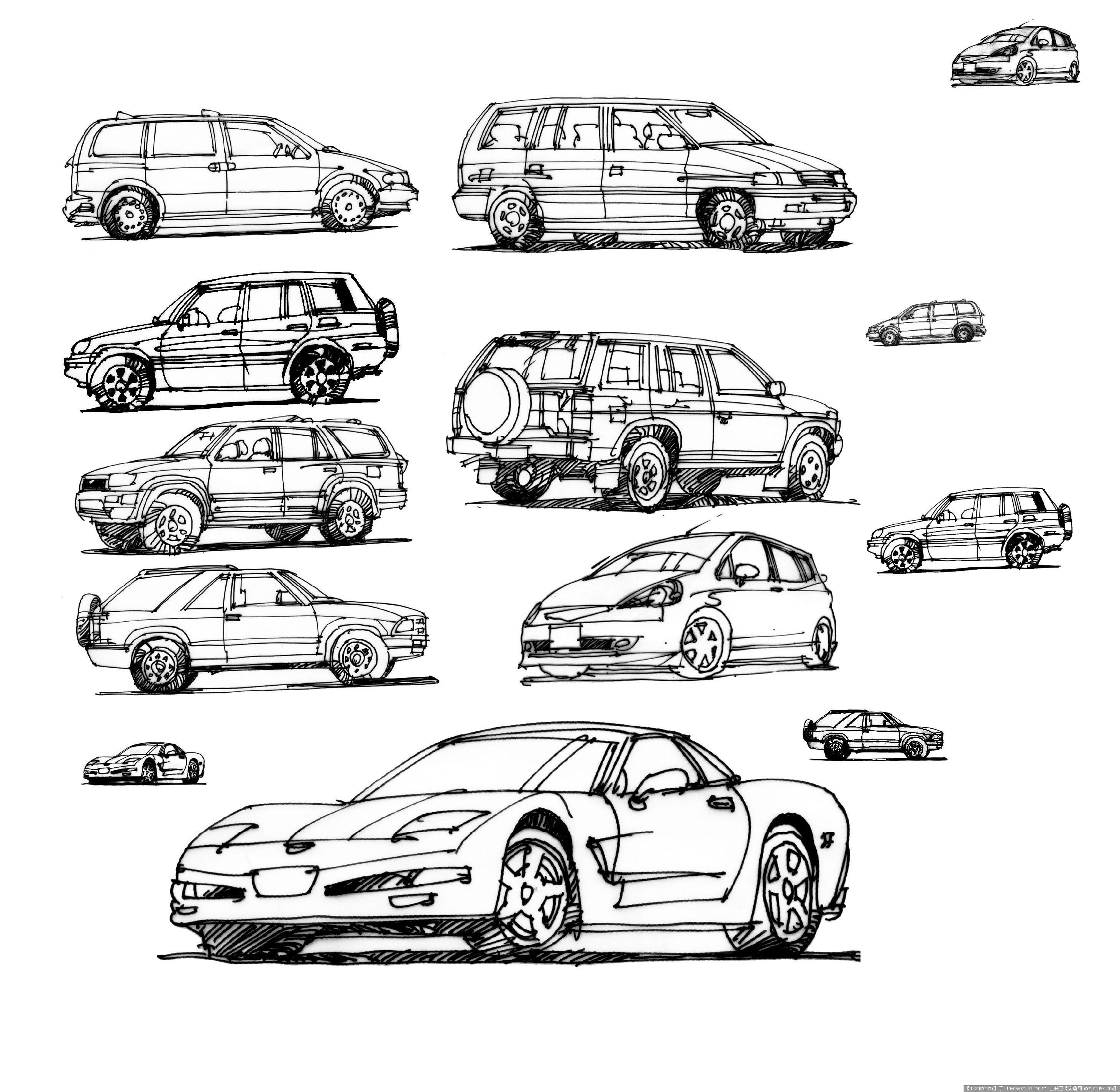 手绘 车模型-0rcar02.jpg 原始尺寸:2922 * 2849