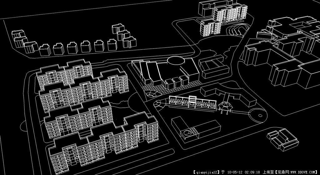 大学校园宿舍区规划su场景