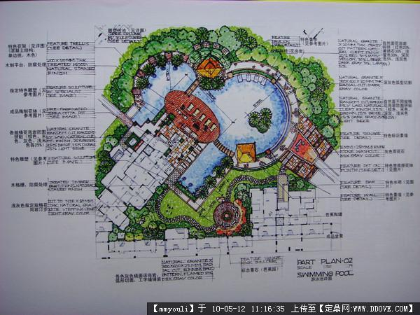 景观手绘平面图几张的图片浏览,园林效 果图,手绘效果