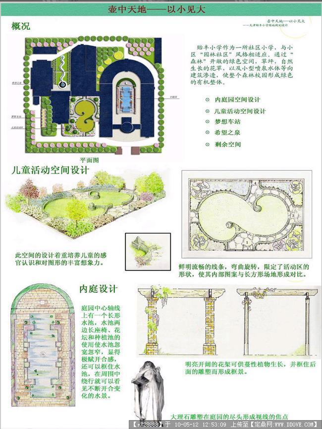 庭院空间景观设计-展板一张