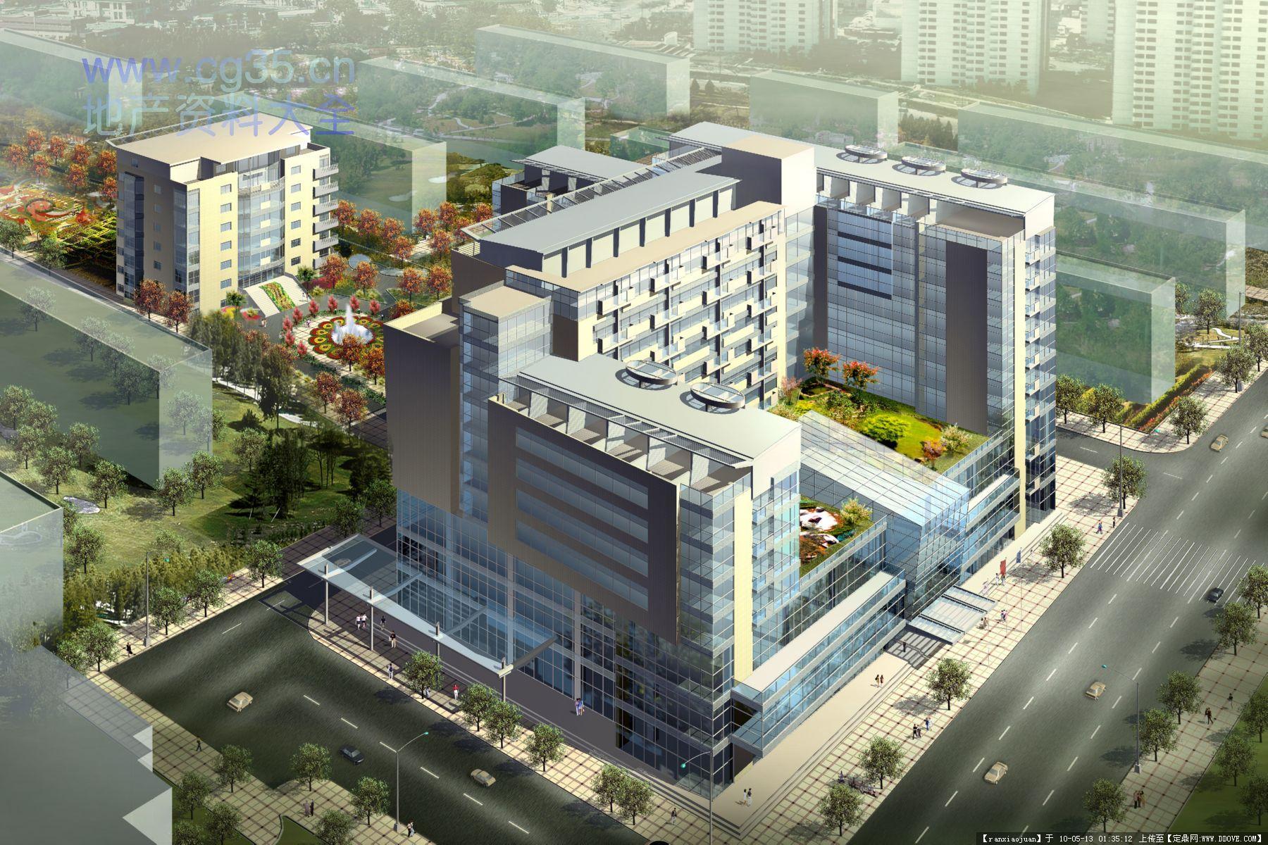 建筑规划设计之经典建筑设计效果图(节选)-三元国际公寓.