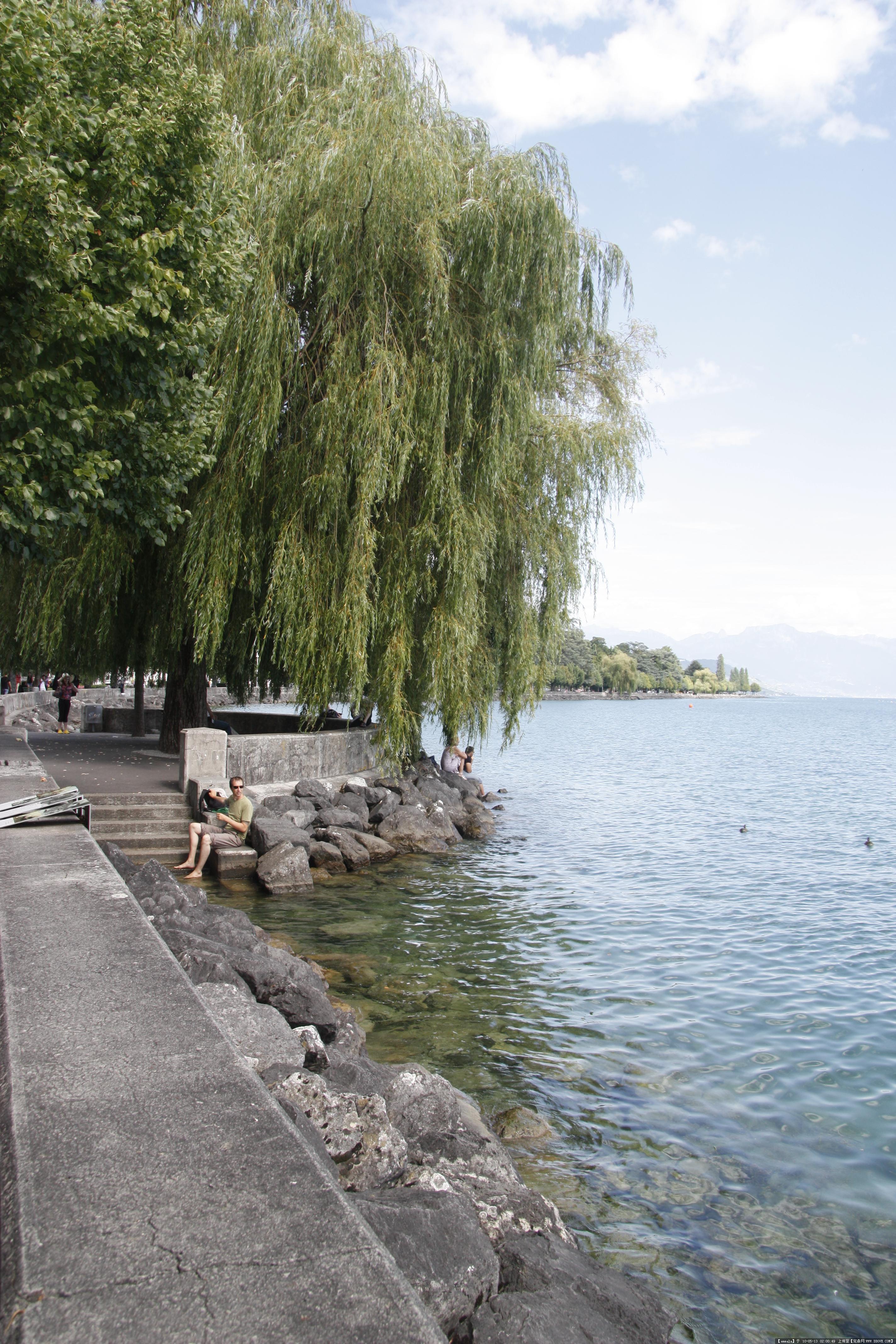 瑞士滨水景观 实拍