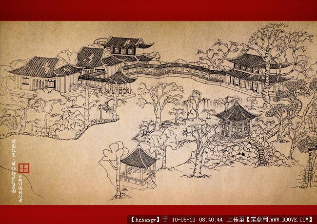 园林效果图手绘一张-古建的下载地址,园林效 果图,,.