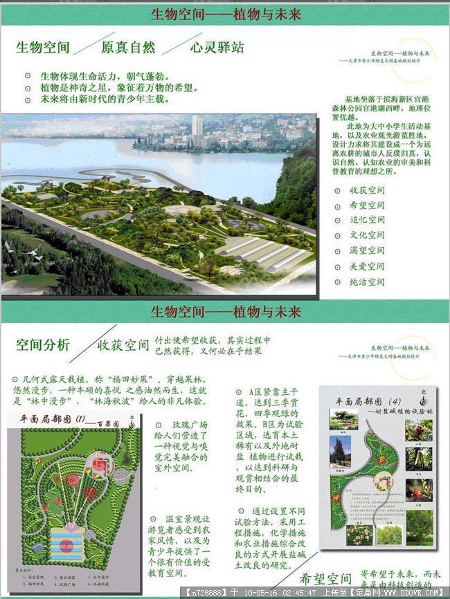 定鼎园林 园林方案设计 校园景观 青少年绿色文明基地规划设计-展板两