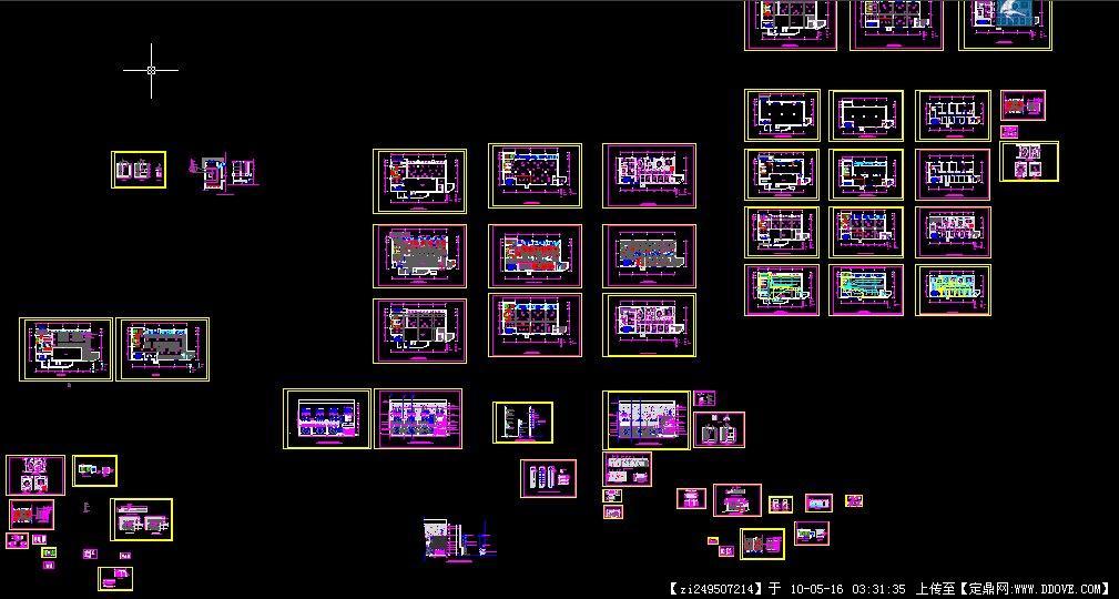 完整的图纸CAD图纸标注把酒店怎样缩小图片