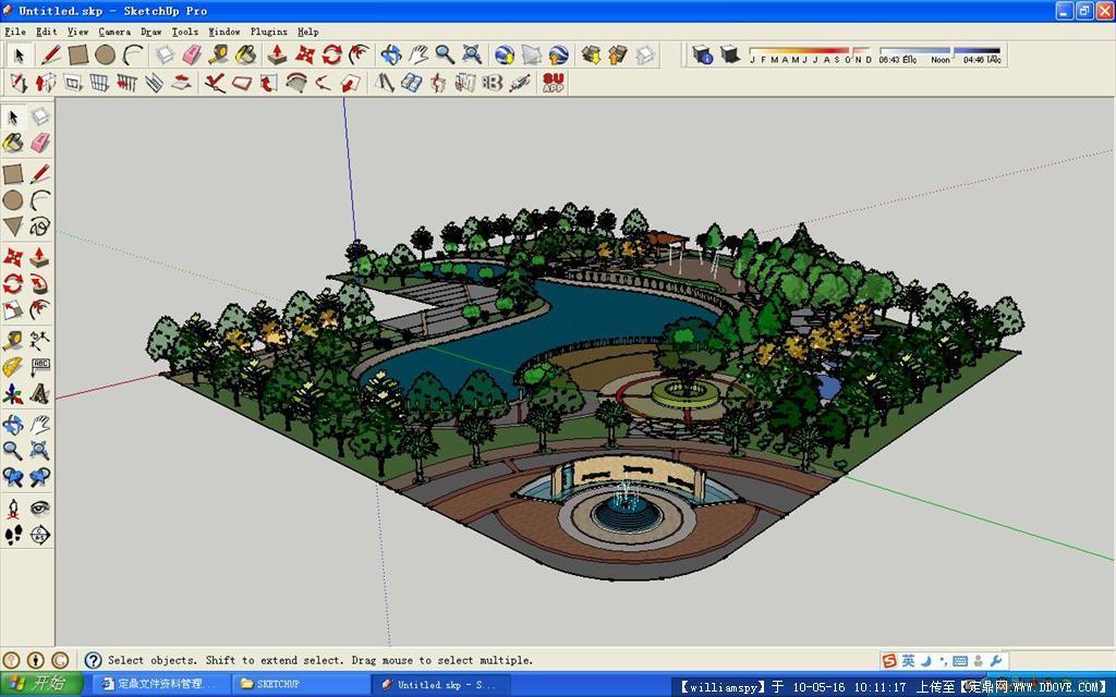 校园小游园设计sketchup 模型的下载地址,三维模型 ...