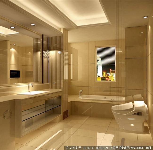 卫生间*地面设计简欧公寓装修效果图
