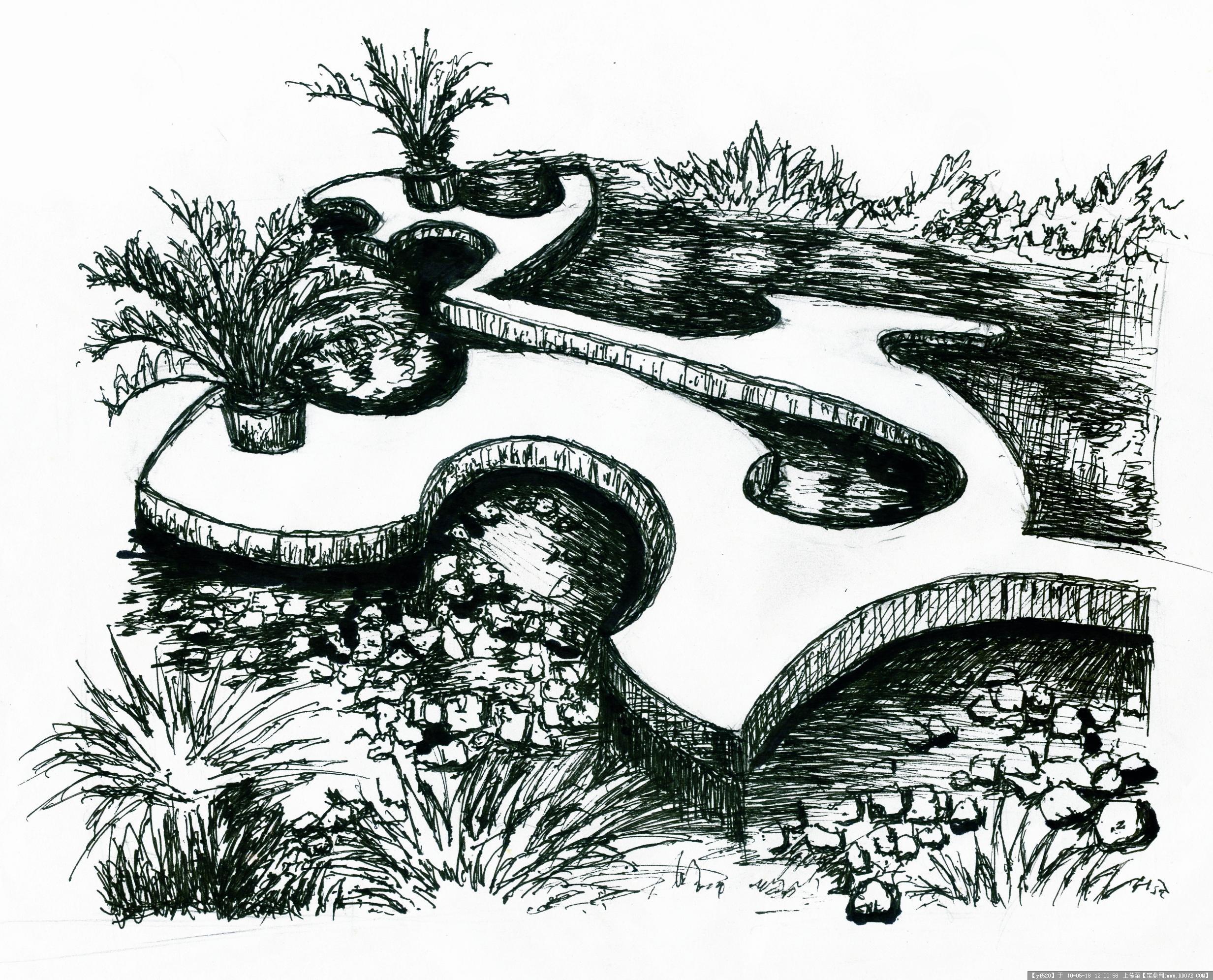 自己临摹的一些钢笔画-6张的图片浏览,园林效 果图,,.