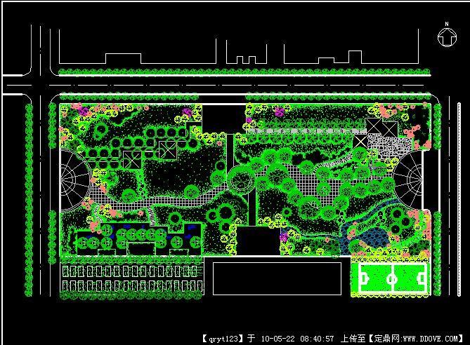 园林小游园景观设计平面方案cad