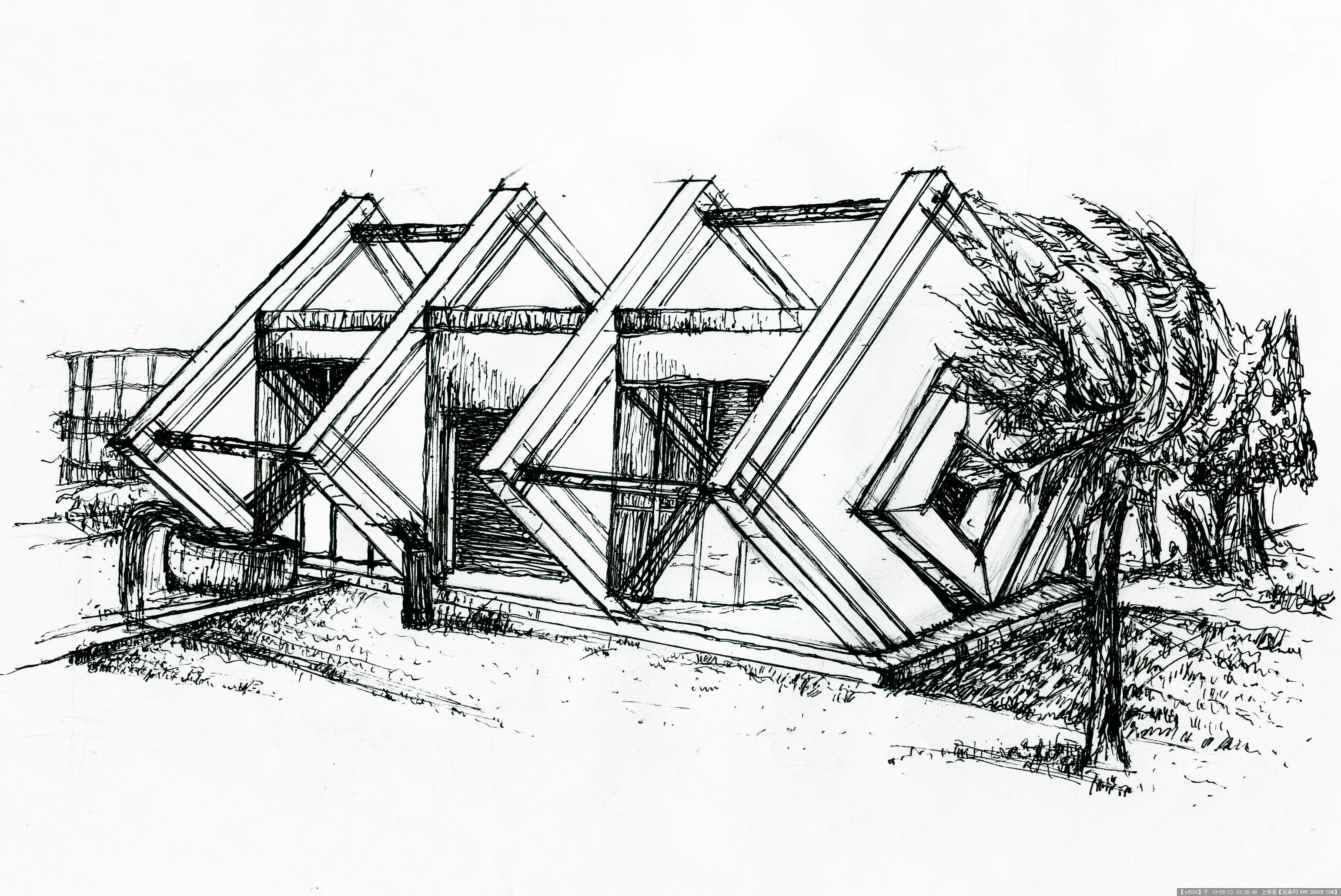 国外建筑手绘临摹素材