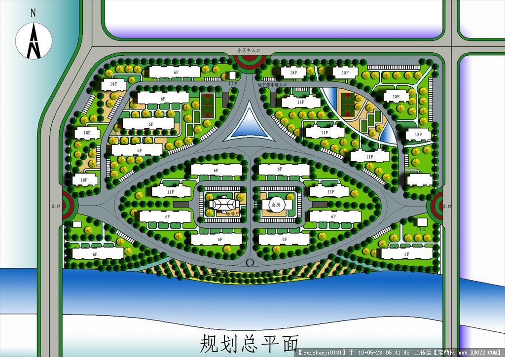居住区规划设计平面psd分层图