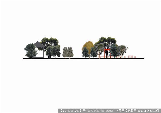 庭院建摸-小别墅庭院景观设计东立面导图.jpg
