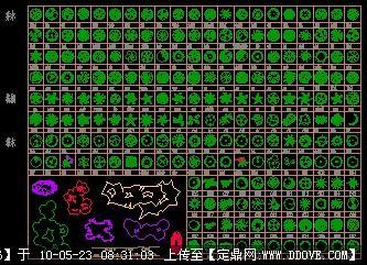 定鼎网 定鼎素材 cad图块 植物 cad图块-植物平面图例  2 5.