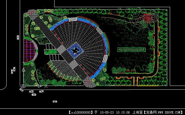 文化广场设计方案平面图