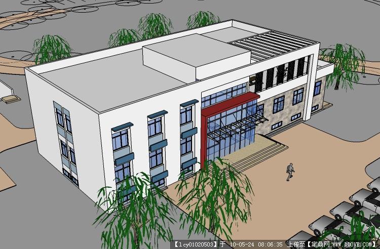 小型办公楼su模型