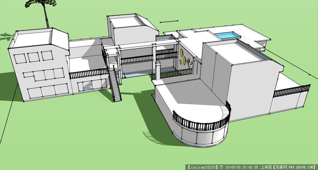 自己设计的幼儿园sketchup建筑模型图片
