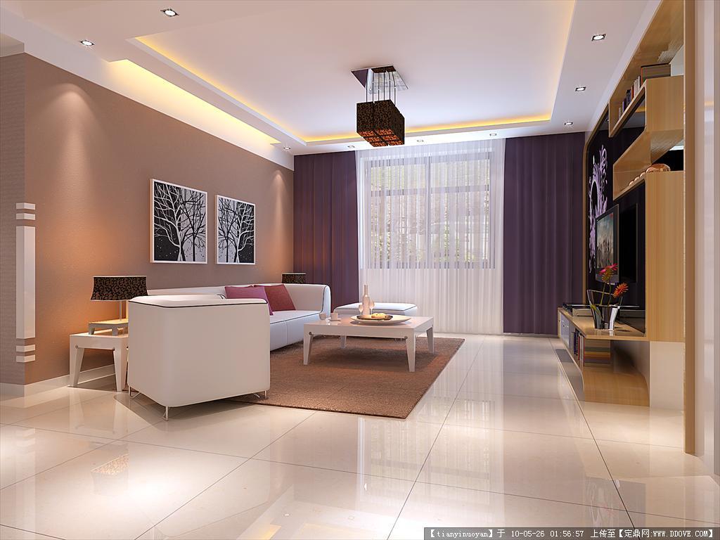 一套室内装饰方案效果图带3dma