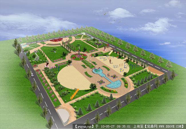 某校园广场平面效果图
