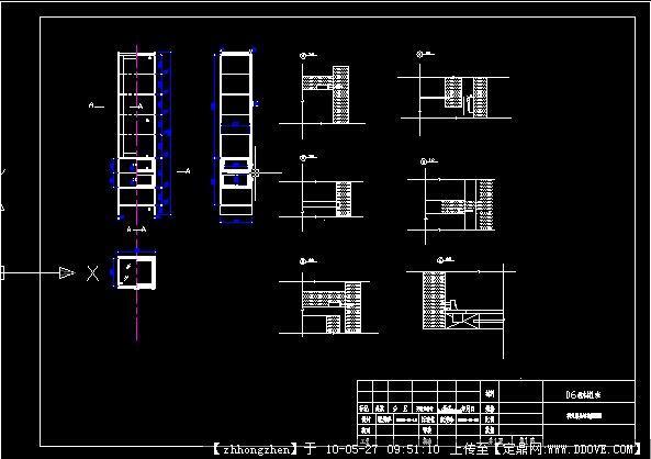 家具-柜子剖面图cad