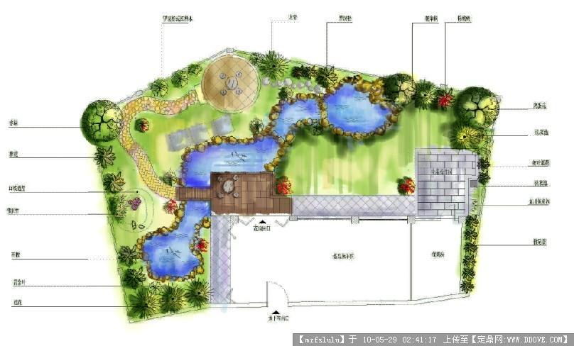 别墅平面图-ps模仿水彩效果的图片浏览,园林方案设计