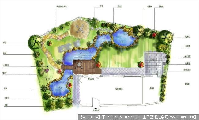 别墅平面图-ps模仿水彩效果的图片浏览