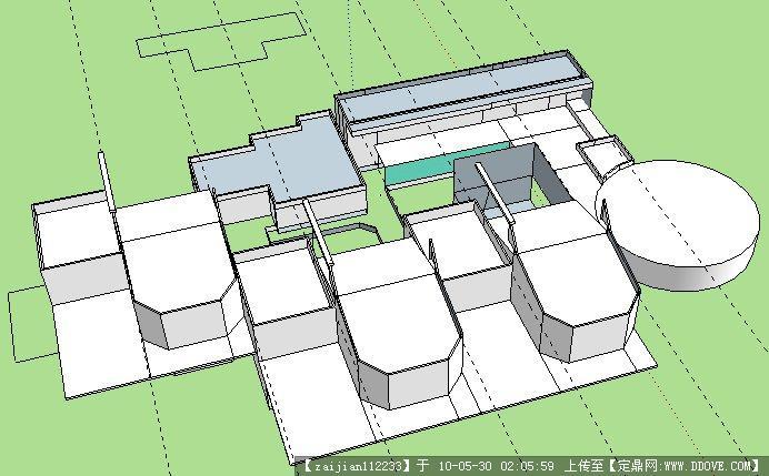 sketchup图幼儿园建筑设计