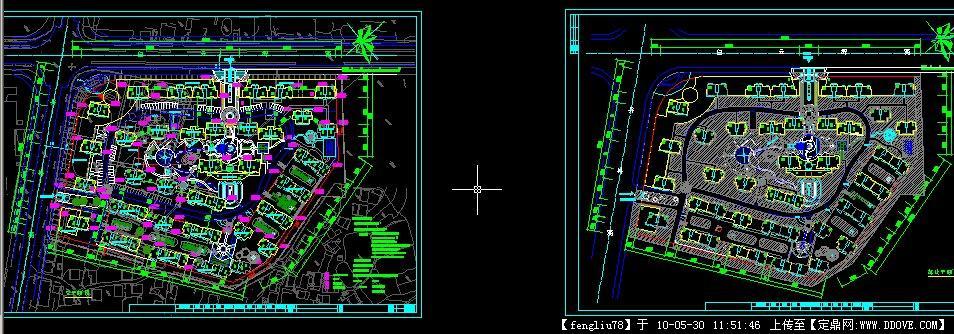 某高档住宅小区总平面规划图