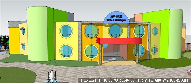 小区幼儿园建筑设计效果图片