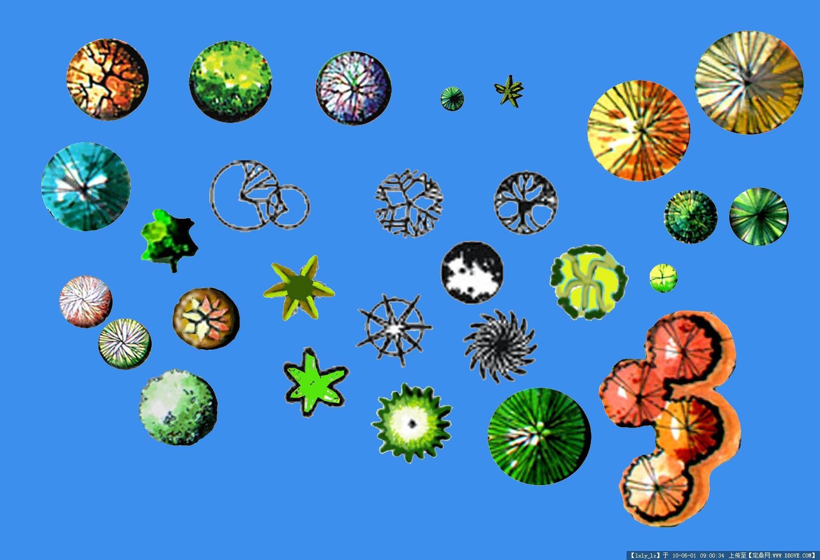 ps平面-植物平面图例素材