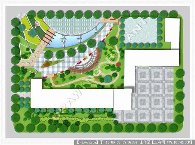 定鼎网 定鼎园林 园林方案设计 道路景观 城市街道景观设计作品赏析