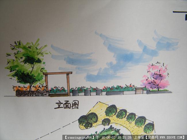 游园快题设计手绘