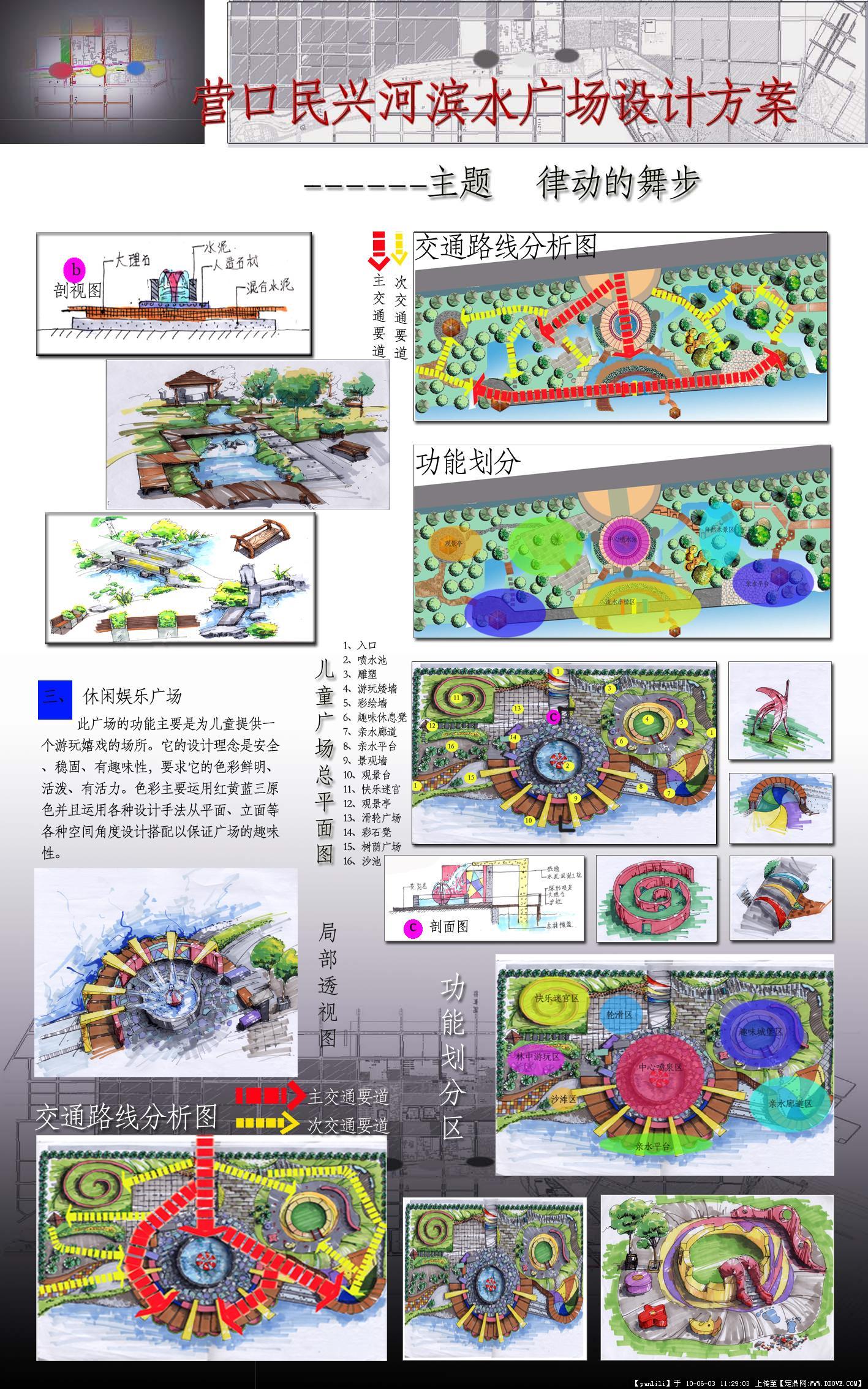 营口滨水广场设计展板两张-大图
