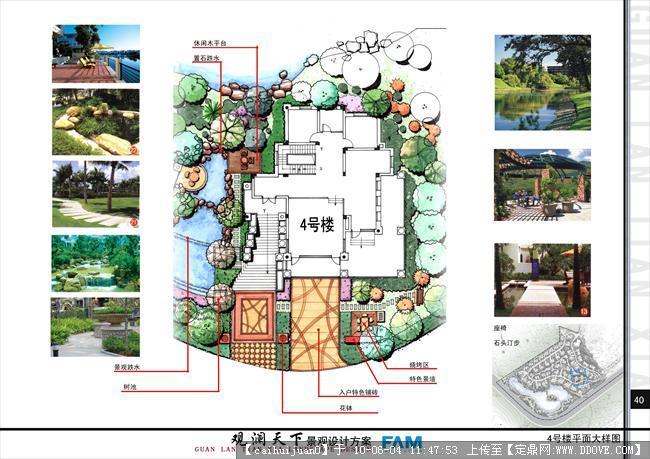 楼间绿化景观设计方案平面图