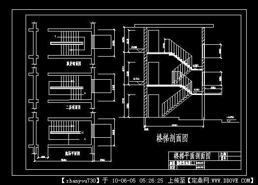 欧式楼梯cad平面图库