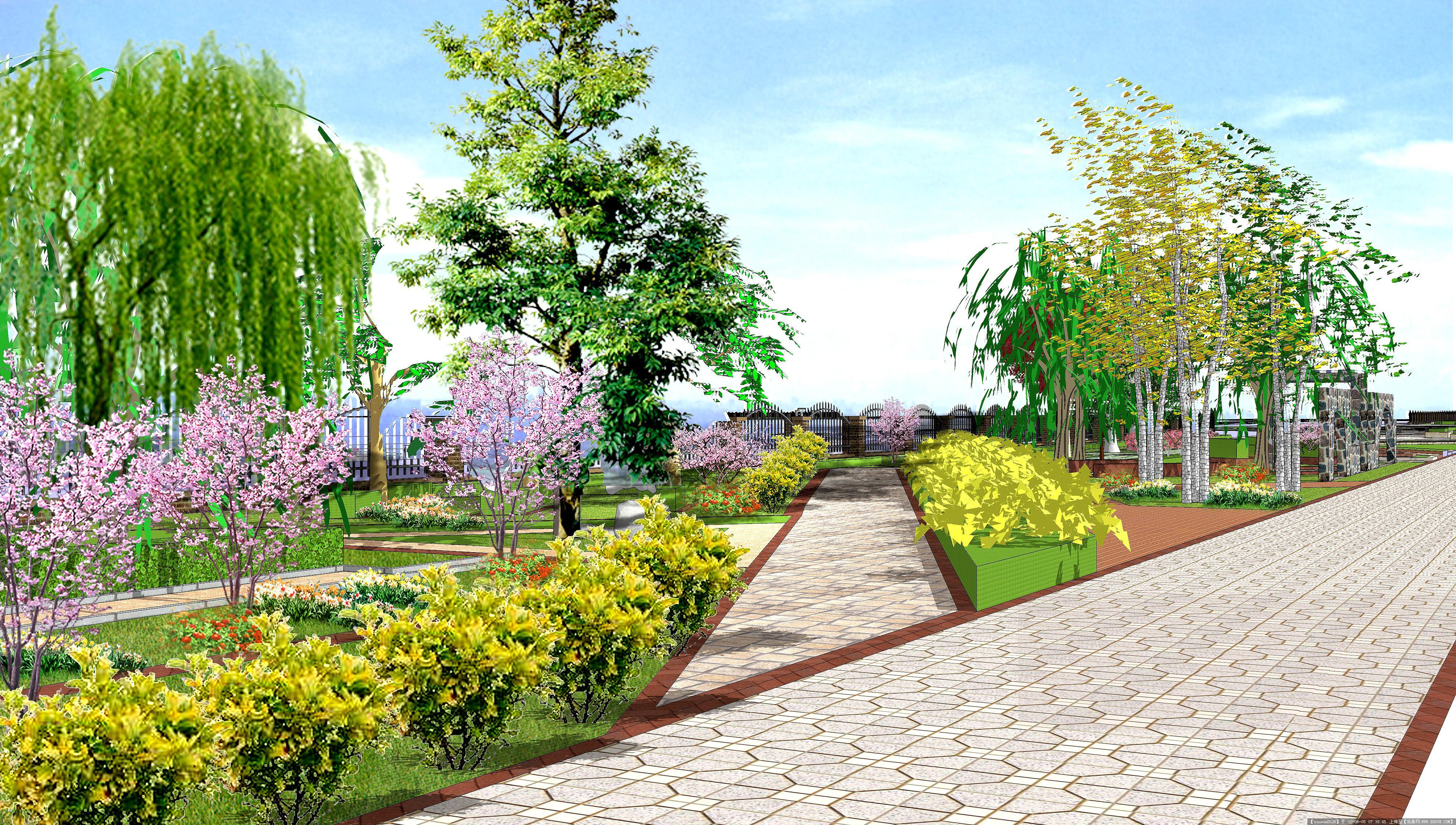 道路景观效果图#的图片浏览,园林效 果图,道路景观,_.