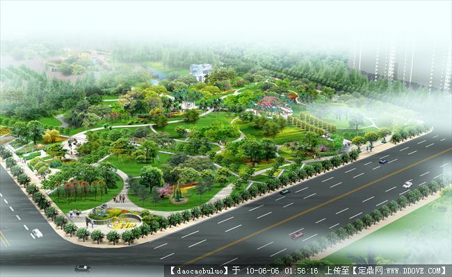 公园设计鸟瞰效果图的图片浏览,园林方案设计,公园,.