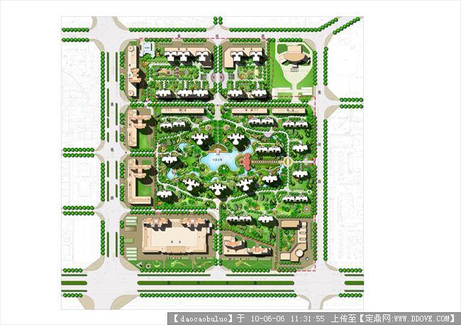小区景观设计总平面效果