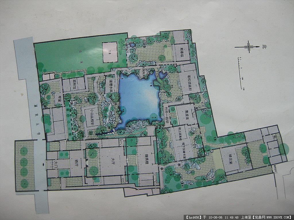 古典园林-苏州园林-网师园依水部分cad平面图
