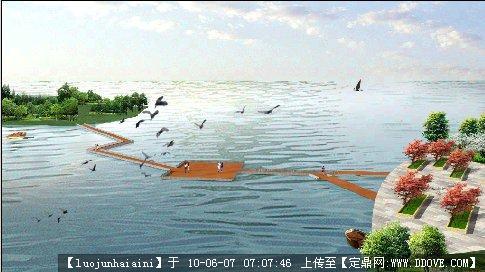 湖心岛规划psd鸟瞰