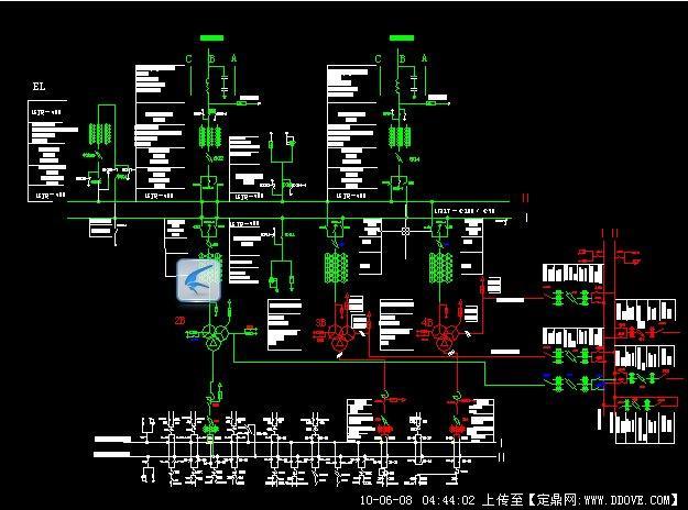 220kv变电站一次结线图